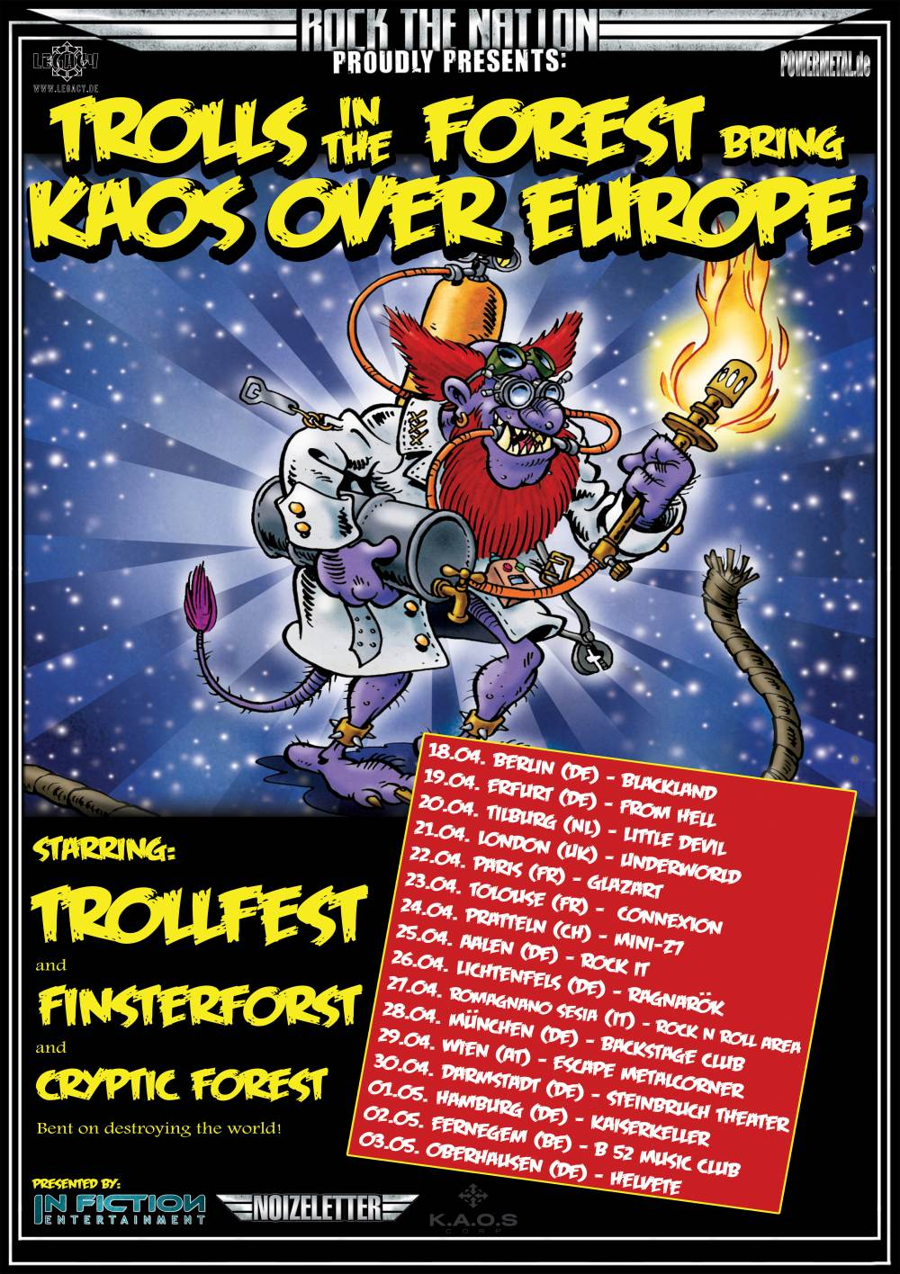 Trollfest - Finsterforst - Cryptic Forest - Trolls in the forest Tour 2014